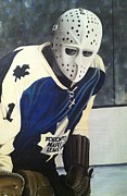 Hockey Goalie Paintings - Mcrae by John Dykes