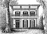 Confederacy Drawings Prints - McRaven House Print by Bruce Kay