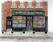 Greenwich Village Paintings - McSorleys Old Ale House by Lynn Lieberman