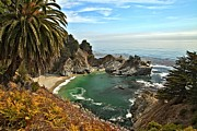 Big Sur Ca Art - McWay Falls by Adam Jewell