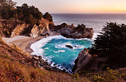Big Sur Framed Prints - McWay Falls Framed Print by Alexis Birkill