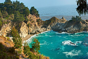 Ledge Photos - McWay Falls along the Big Sur Coast. by Jamie Pham