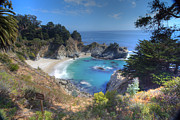 Big Sur Beach Framed Prints - McWay Falls Framed Print by Marco Crupi