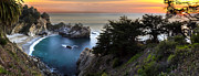 Big Sur Photos - Mcway Falls Sunset by Brad Scott