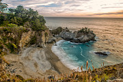 California Framed Prints - McWay Falls Three Framed Print by Josh Whalen