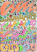 Popart Drawings Prints - Mdoodle 28 Print by Martina Dresler