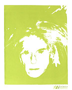 Silk Screen Prints - Me and Andy Print by Monica Warhol