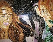 Me And Sarah Riding In The Back Of Lieske's Beemer Print by Rachel Van der pol