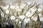 Meadow Drawings - Meadow Flowers by Christine Lamade