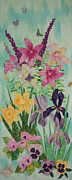 Lilies Tapestries - Textiles - Meadow of My Dream by Denise Hoag