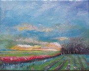 Franklin Farm Painting Prints - Meadow Print by Rebecca Myers