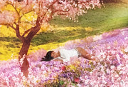 Sakura Paintings - Meadows of Heaven by Mo T