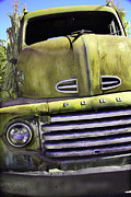 Pickup Framed Prints - Mean Green Ford Truck Framed Print by Steven Bateson