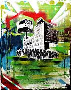 Crowd Mixed Media Prints - Means of Production Print by Lost Breed Art