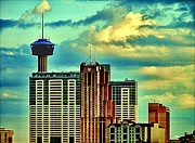 Skyline Photo Prints - Meanwhile In Another Part Of Town Print by Wendy J St Christopher