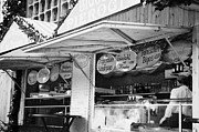 Christmas Market Prints - meat fast food stall at the christmas market in Berlin Germany Print by Joe Fox