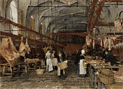 Meat Paintings - Meat Market in Middleburg by Hans Herrman