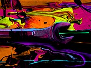Oil Slick Painting Prints - Mechanics Of Art 5 Print by David Rogers