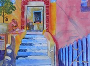 Warren Thompson Art Prints - MED Flavours in Santorini Print by Warren Thompson