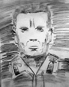 Military Hero Drawings Prints - Medal of Honour Print by Pradeep Yadav