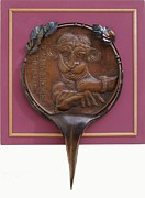 Copper Sculpture Sculptures - Medallion for institutional cruelty by Gyula Friewald