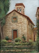 Europe Pastels - Medeival Church by Sharon Weaver