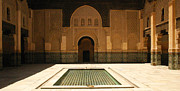 Northern Africa Framed Prints - Medersa Ben Youssef Old Medina Marrakesh Morocco Framed Print by ArtPhoto-Ralph A  Ledergerber-Photography