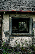 Spokane Prints - Medical Lake Cabin Window Print by Daniel Baumer