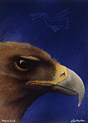 Eagle Painting Framed Prints - Medicine Bird... Framed Print by Will Bullas
