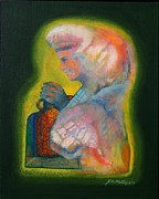 Jug Painting Originals - Medicine Woman by J W Kelly