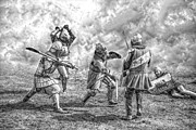 Ages Metal Prints - Medieval battle Metal Print by Jaroslaw Grudzinski