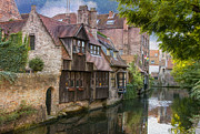 Historic Home Photo Metal Prints - Medieval Bruges Metal Print by Juli Scalzi