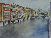 South Of France Paintings - Medieval Canal by Sobeida Salomon