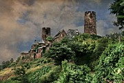 Vinery Photos - Medieval castle along the Moselle by Hugo Bussen