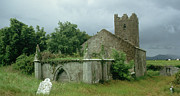 Ruins Metal Prints - Medieval church and churchyard Metal Print by Unknown