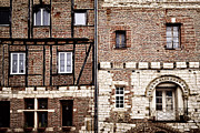 Old Houses Metal Prints - Medieval houses in Albi France Metal Print by Elena Elisseeva