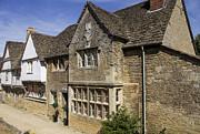 Medieval Houses In Lacock Village Print by Patricia Hofmeester