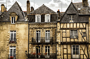 Old Facade Posters - Medieval houses in Vannes Poster by Elena Elisseeva