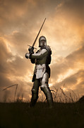 Atmoshperic Framed Prints - Medieval Knight In Armour Framed Print by Lee Avison