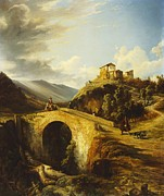 Villa Paintings - Medieval Landscape by Gonsalvo Carelli
