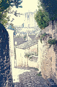 Ages Prints - Medieval Lane in Saint-Emilion Print by Heiko Koehrer-Wagner
