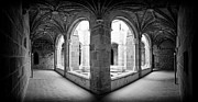 Courtyards Photos - Medieval Monastery Cloister by Jose Elias - Sofia Pereira