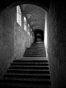 Stone Steps Posters - Medieval Passage Poster by Mark Miller