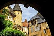 Middle Ages Metal Prints - Medieval Sarlat  Metal Print by Elena Elisseeva