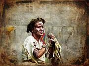 Barbara Orenya - Medieval scene - The Beggar