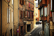 Old Houses Framed Prints - Medieval street in Albi France Framed Print by Elena Elisseeva