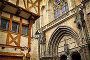 Painted Wood Prints - Medieval Vannes France Print by Elena Elisseeva