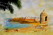 Hispanic Painting Metal Prints - Medina of Tetouan Metal Print by Catf