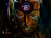 Third Eye Digital Art - Meditate by The Feathered Lady