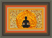 Meditating Digital Art Posters - Meditating Figure Poster by Marie Jamieson